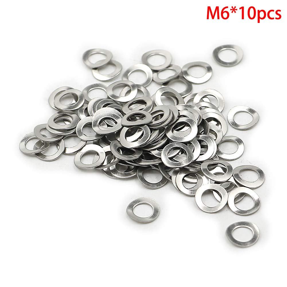 50PCS Motoparty DIN137A M8 Wave Washers Spring Washer 8mm Gasket Curved Washers Din 137A