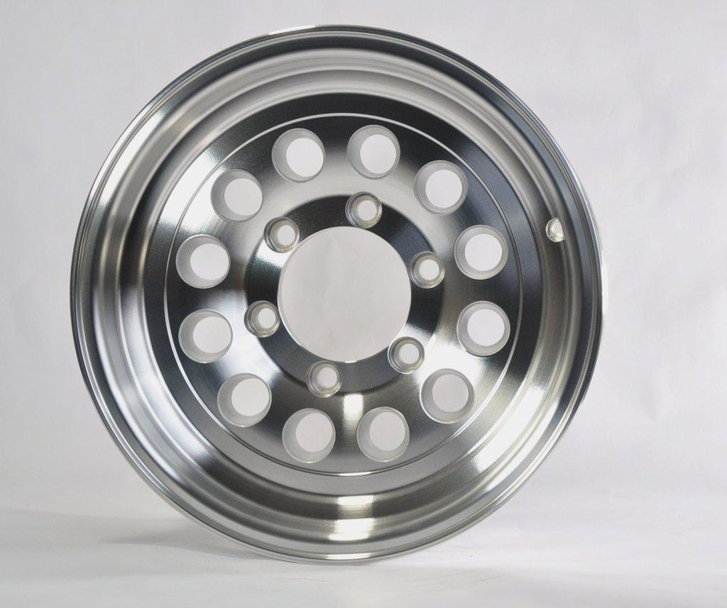 Two Boat Trailer Rims Wheels 15'' 15X6 6 Lug Hole Bolt Aluminum Modular Design