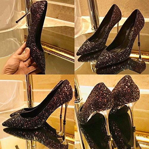Boîte 8 Femmes Chaussures Mariée De Robes Stilettos Talons Chaussures Cuir Mariage En 5cm RedGreen Simples Fête Escarpins Nuit Hauts De Chaussures 16Hqwvr1