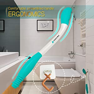 Toilet Aids For Wiping, Wipe Assist Tool Bathroom Wipe Assistance Bottom Buddy, Long Reach Comfort Wiper