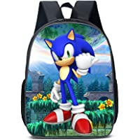 3 in1 Children School Bags Set 3D Sonic Printed Backpack with Shoulder Bag Pencil case 15.7 Inch Polyester Daypack for…