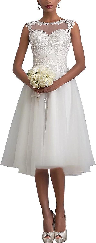 Carnivalprom Damen Sheer Spitze Hochzeitskleid Brautkleid Elegant