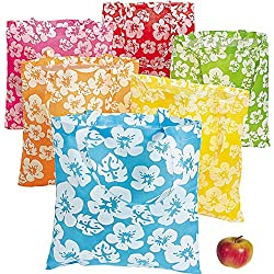 Hibiscus Hawaiian Luau Pool Party Tote Bags
