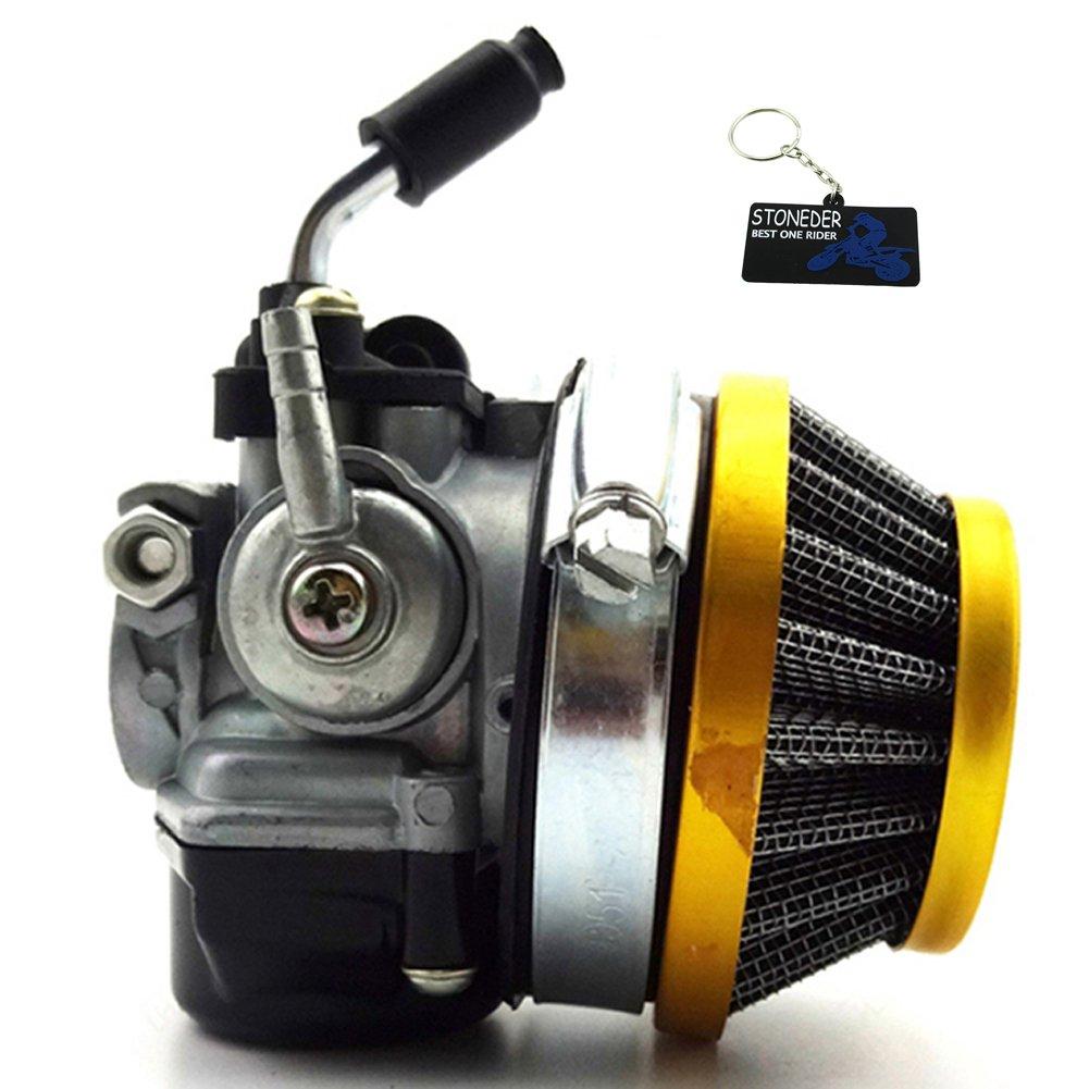 STONEDER Marché Carburateur Dellorto Style Sha 14mm Carb L Filtre à air pour Targa LX TT