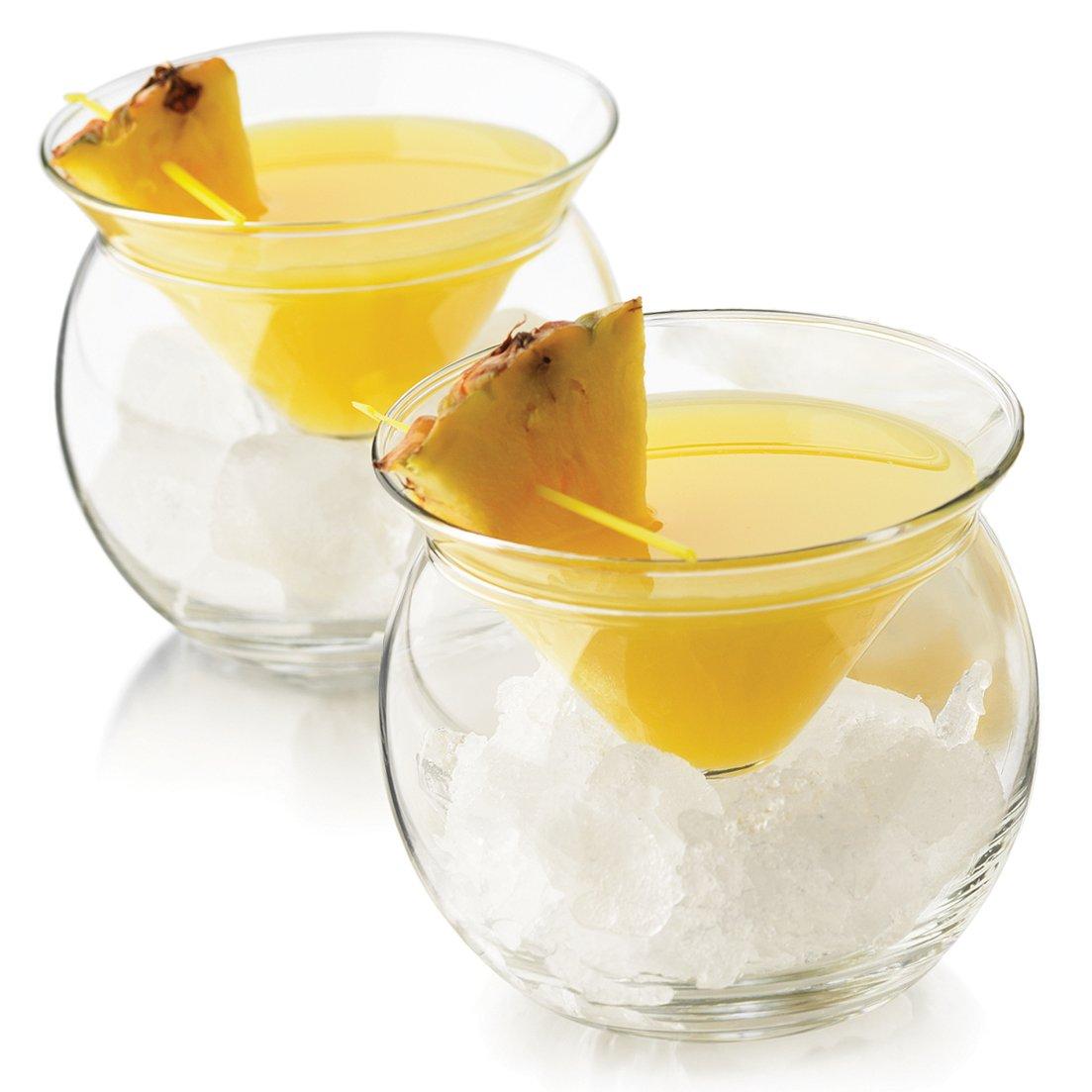 """World's Coldest"" 2-Part Martini Chiller (Gift Box Set of 2)"