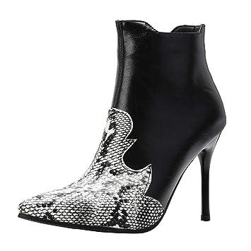 5139e73bea2 Amazon.com: Besde Women's Fashion Snake Stiletto Heel Shoes Pointed ...