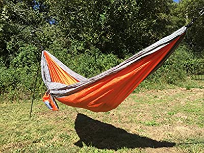 TrueRest Single-Person Hammock by Blue Ridge for Optimum Rest when Camping, Hiking, Backpacking, or Travel.