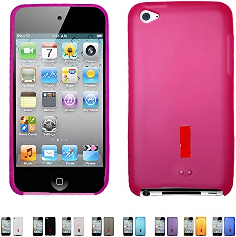 Apple iPod Touch 5th 6th Generation Rubberized Case Cover Hot Pink 04