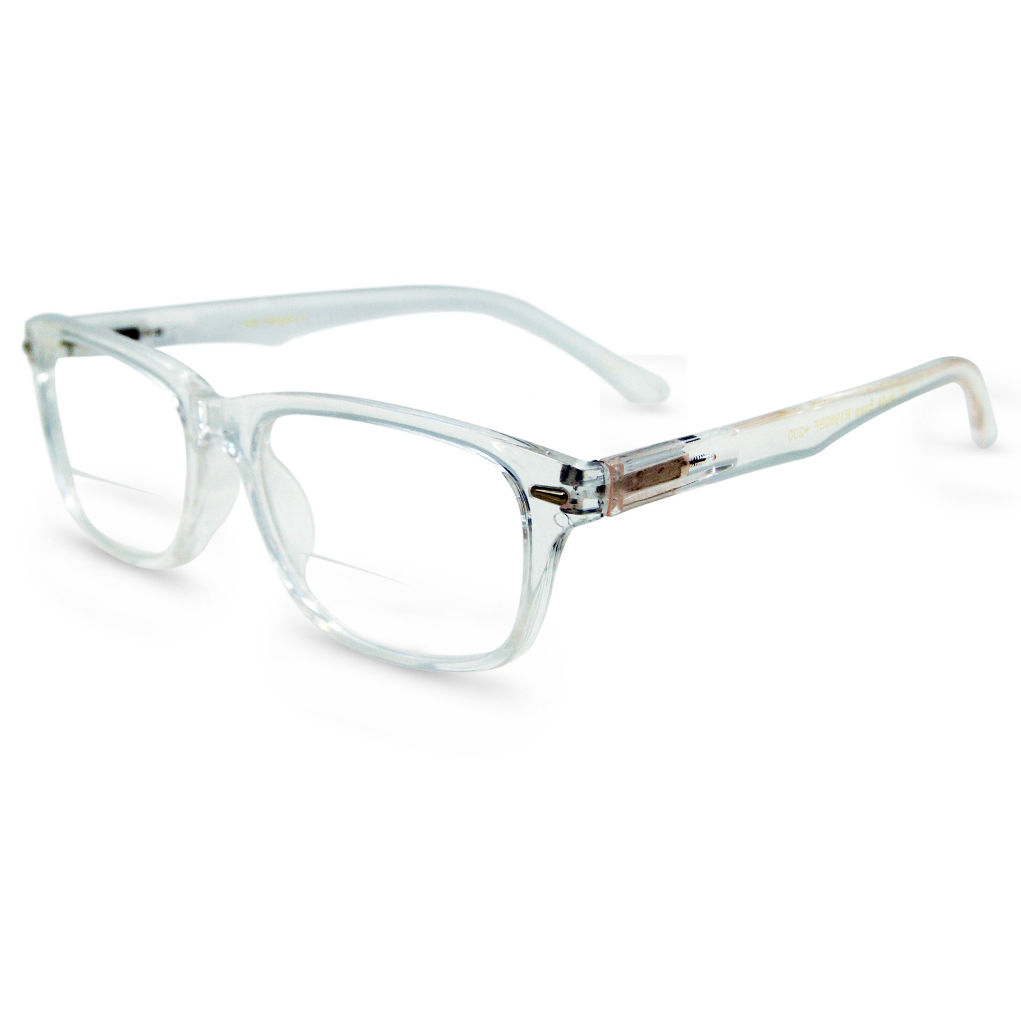 In Style Eyes Seymore Wayfarer BiFocal Reading Glasses Clear 4.00