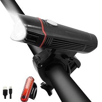 WasaFire Juego de Luces de Bicicleta Recargables por USB ...