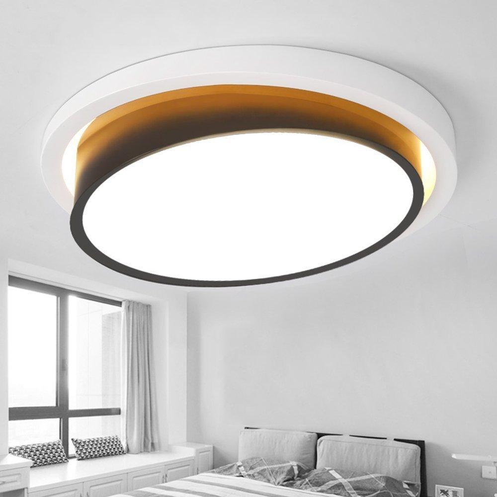 48w Led Deckenleuchte Moderne Einfache Schwarz Weiss Design