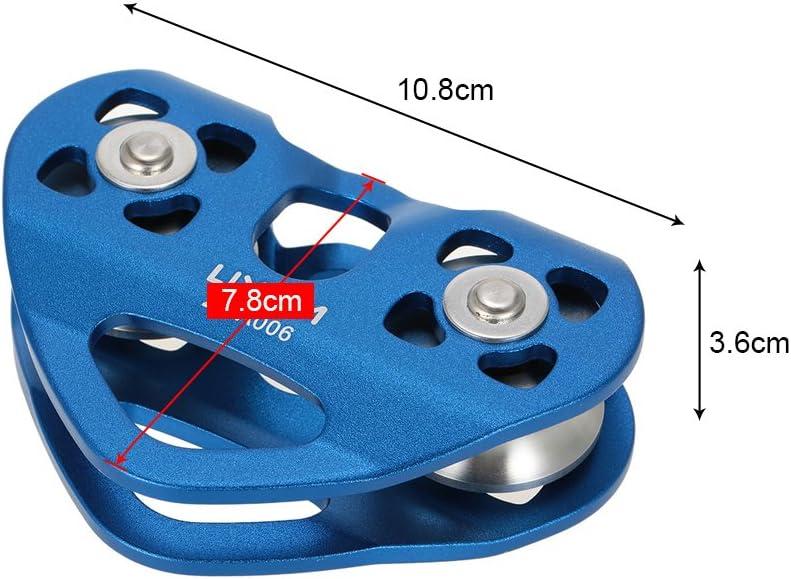 Lixada Pulley 30/KN grosse alluminio doppia corda parabrezza arrampicata Rigging di salvataggio