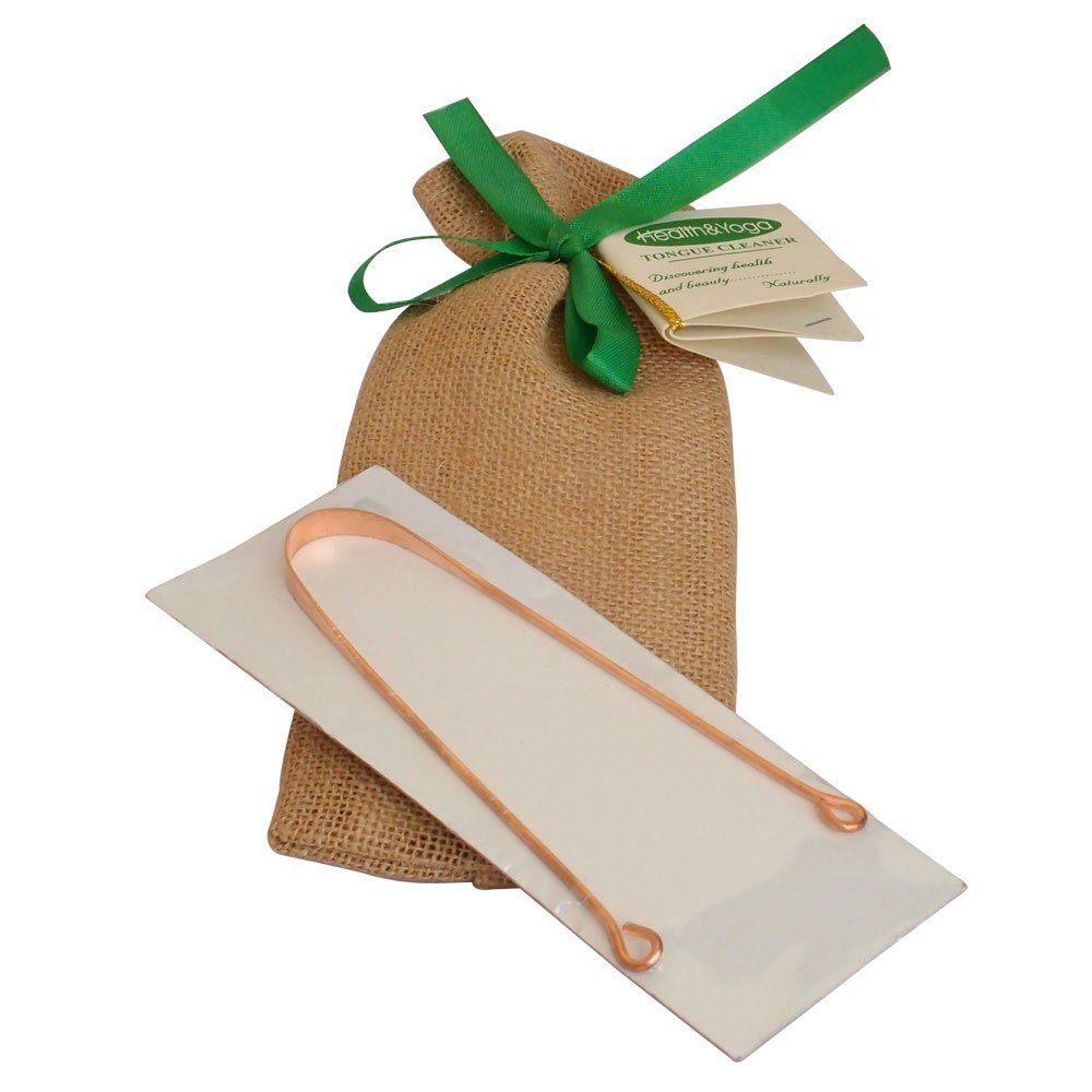 HealthAndYoga(TM) Copper Tongue Cleaner - Exquisitely Gift Wrapped Soulgenie