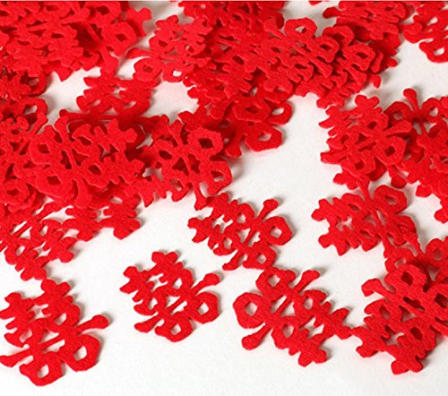 Yuren 30Pcs Chinese Traditional Wedding Flannel Paper-Cut,Wedding Decoration, New House Layout Wedding Decoration