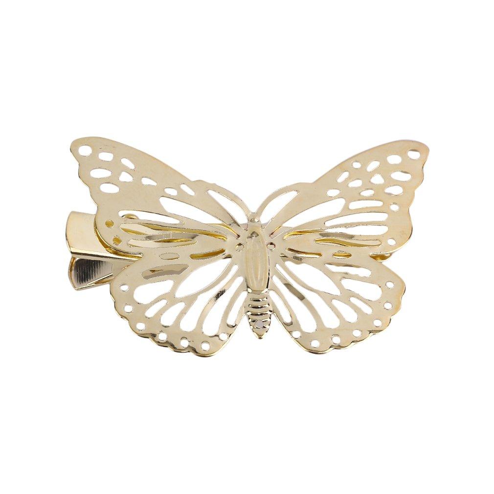 Diadema con clip de mariposa dorada para el pelo de la izquierda/derecha Asien