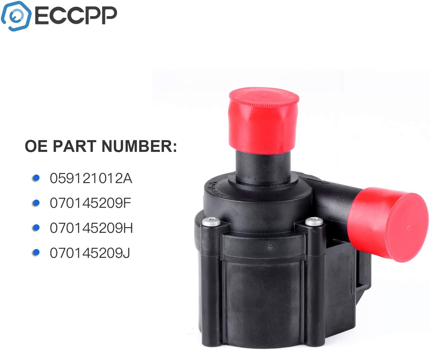 X AUTOHAUX Car Auxiliary Coolant Water Pump 059121012A Engine Water Pumps Replacement for Volkswagen Touareg 2009-2017