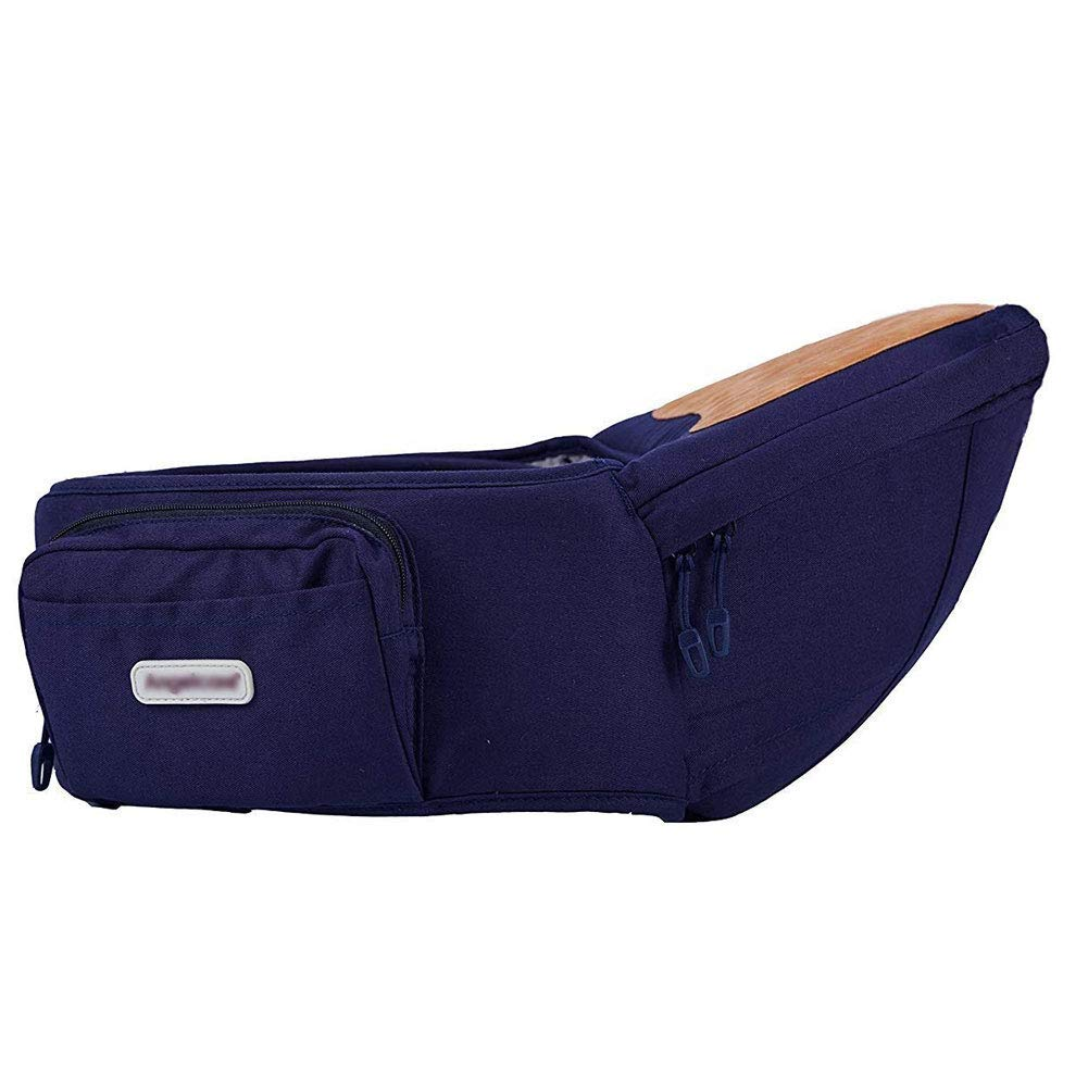 Angelbaby Baby Infant Hip Seat Carrier with pockets, Lightweight Toddler Waist Stool Seat Belt Carrier Navy Blue
