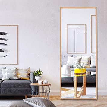Neutype 65x22 Full Length Mirror Standing Hanging Or Leaning Against Wall Large Rectangle Bedroom Mirror Floor Mirror Dressing Mirror Solid Wood
