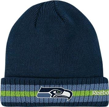 4f3eaa95f48 Seattle Seahawks Reebok 2011 Sideline Cuffed Knit Hat  Amazon.co.uk  Sports    Outdoors