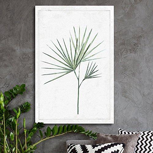 Hand Drawn Green Slim Tree Leaf Series 4 Artwork