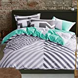 GAW Home Fashion 100% Cotton 4-Piece Duvet Cover Bedding Set, King/Queen,(1 Quilt Cover,1 Sheet ,2 Pillowcases)