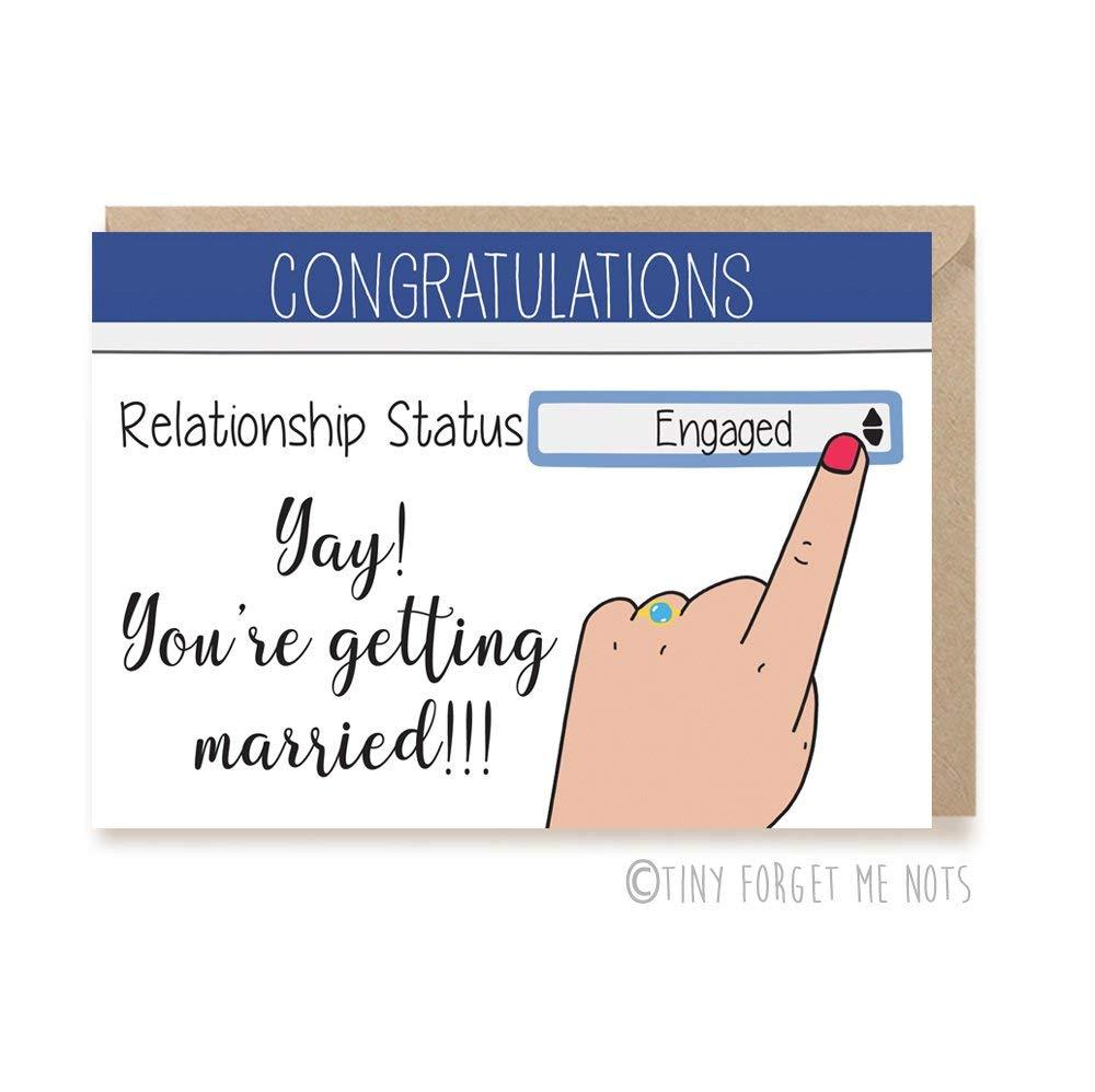Bridal Shower Cards Wedding Congratulations Card Engagement Card Funny Wedding Card