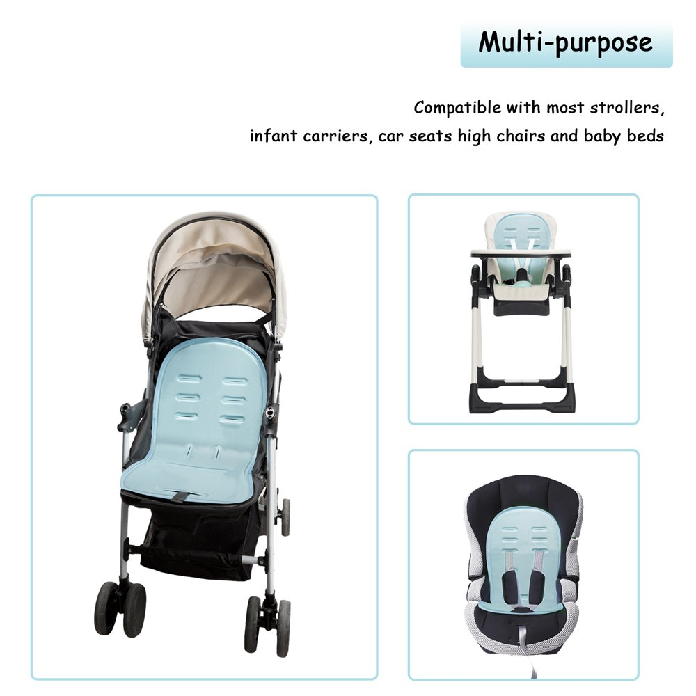 Dahey Self Cooling Gel Stroller Seat Liner Baby Seat Cooler Cushion Cooling Seat Liner For Stroller And Car Seat No Need Refrigeration Non Toxic