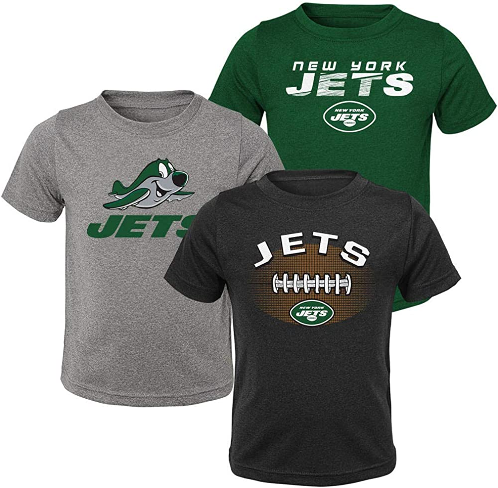 Toddler Boys New York Jets 3 Pack Tee Shirts Size 3T Black