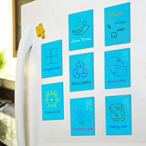 Dry Erase Sticky Notes, Reusable Small Dry Erase Board, Self-Stick Waterproof Whiteboard Labels Stickers for Office Supplies, to Do List, Reminders, Home, Meeting