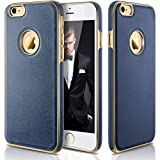 iPhone 6s Case, LOHASIC Ultra Slim [Premium Texture Grip] [PU Leather & Soft TPU & Plating Coated Frame] Seamless Hybrid Business Style Cover Case for iPhone 6s & iPhone 6(4.7 Inch,Navy Blue)