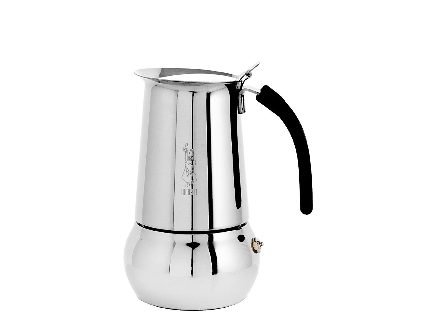 Bialetti 06661 Kitty Espresso Coffee Maker, Stainless Steel, 6 cup