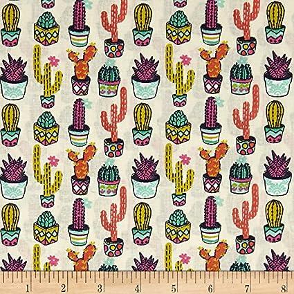 Amazoncom Stof Fabrics Of France Stof Mini Aloes Multicolor Fabric
