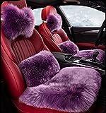 YAOHAOHAO Australian luxury of sheepskin seat cushion car seat covers universal fit