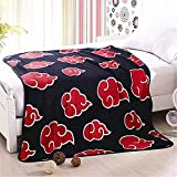 """Anime NARUTO Red Clouds CORAL FLEECE Throw Blanket 50"""" X 60"""" Polyester blanket"""