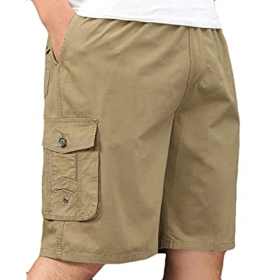 Bigbarry Women Zipper-Pocket Summer Beach Casual Elastic Waist Shorts