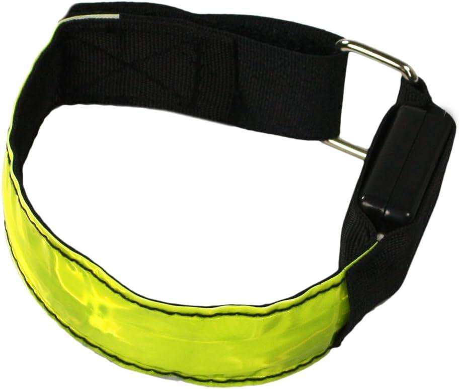 Cinturini Automatici Ideali per Jogging e Ciclisti! 02 Pezzi - Cinturino a Scatto com-four/® Set di 2 Nastri Riflettenti