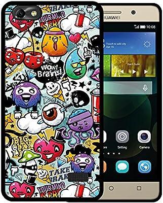 Funda Huawei G Play Mini - Huawei Honor 4C, WoowCase [ Huawei G Play Mini - Huawei Honor 4C ] Funda Silicona Gel Flexible Grafiti de Colores ...