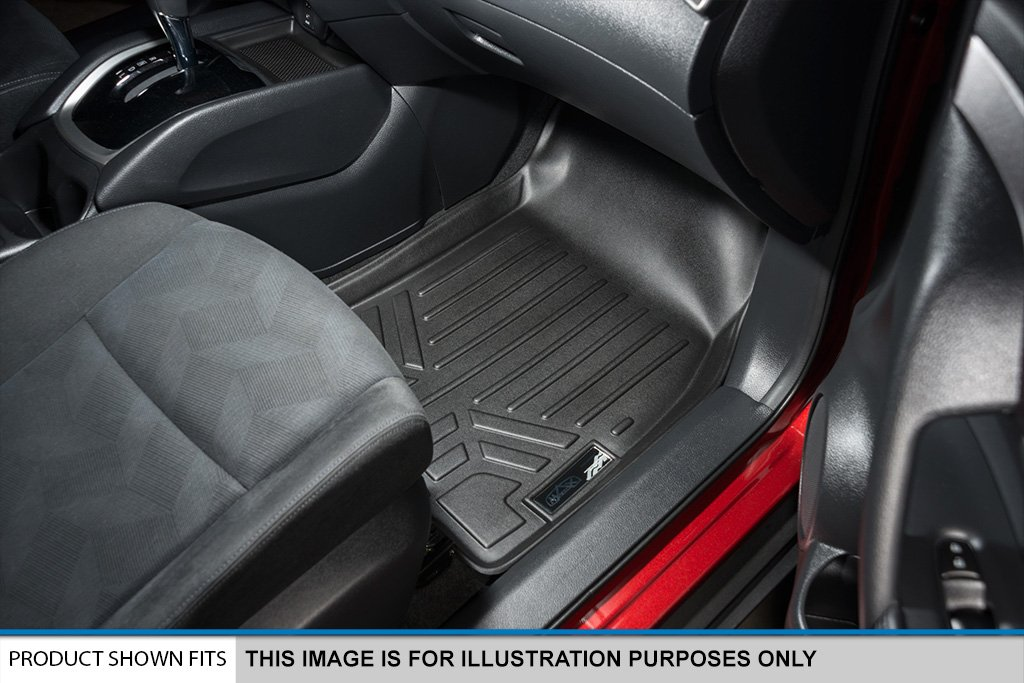MAX LINER A0325/B0325/C0325 Custom Fit Floor Mats 3 Row Liner Set Black for 2018-2019 Honda Odyssey - All Models by MAX LINER (Image #3)