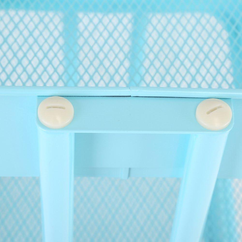EBTOOLS Carrello di Servizio Carrello con Ruote con 3/cestini portaoggetti in Metallo Resistente Durevole per Cucina Bagno Soggiorno Ufficio Hotel
