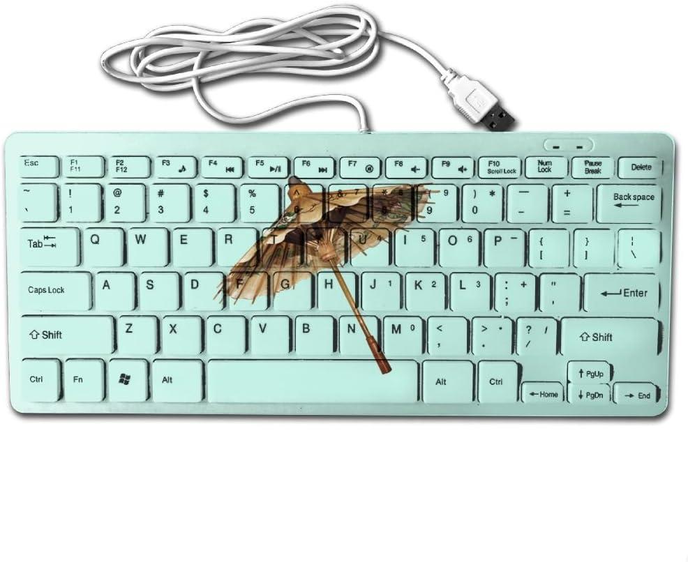 Ancient Umbrella Printed USB Keyboard Mini 78 Keys Computer Keypad For MAC
