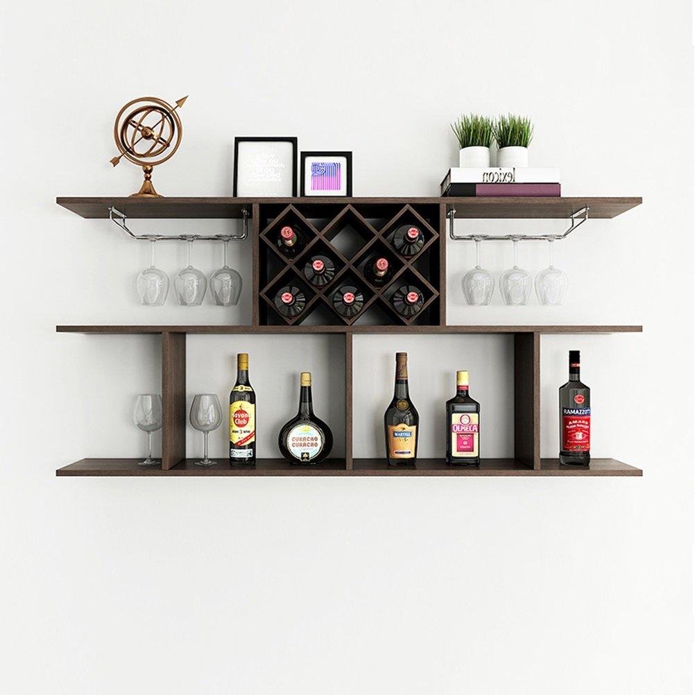 shelf Health UK Scaffale da Parete per Vino Fresco da Parete Scaffale da Parete in Legno da Vino Vino grigliato Welcome (Dimensioni : S.)