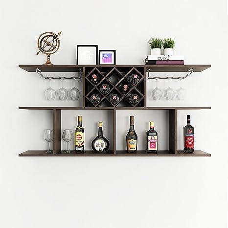 de de vin UK murale CLOTHES mur de de de vin Rhombic de vin refroidisseur de le étagère Étagère accrochant support support murale ménage de bois de RAj3L54