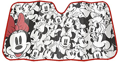 Disney Minnie Mouse Expressions Truck Car SUV Front Windshield Accordion Folding Sun Shade 27.5 x 58 Inches