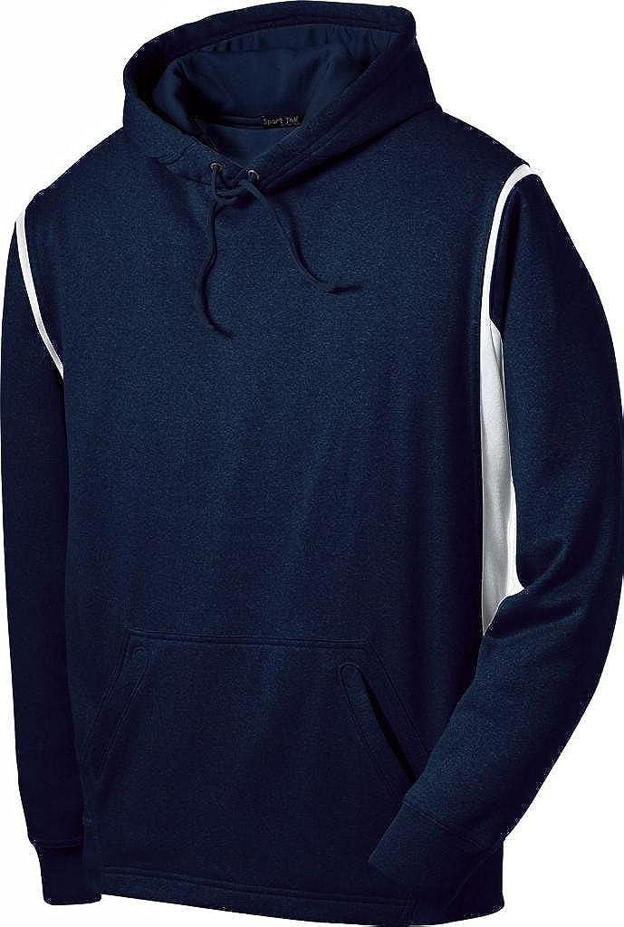 Sport-Tek Mens Comfort Fleece Hooded Sweatshirt/_True Navy//White