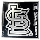 "St Louis Cardinals 6"" Metallic MAGNET Silver Style Vinyl Die Cut Auto Home Baseball"