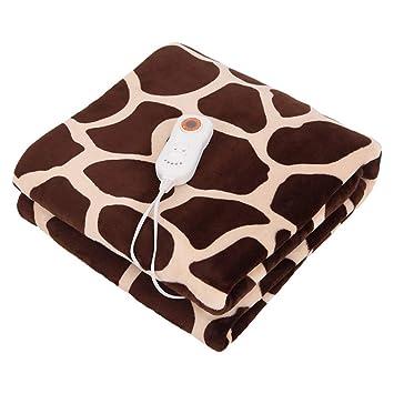 ALIUTIAN Manta eléctrica sofá, calienta colchones, cobija de Calentamiento, Manta de Descanso: fácil de Usar, Franela,Brown_160*120cm: Amazon.es: Hogar