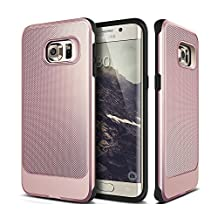 Galaxy S6 Case, Hybrid Rugged Dual Layer Armor Defender Case Shell for Samsung Galaxy S6 (Rose Gold)