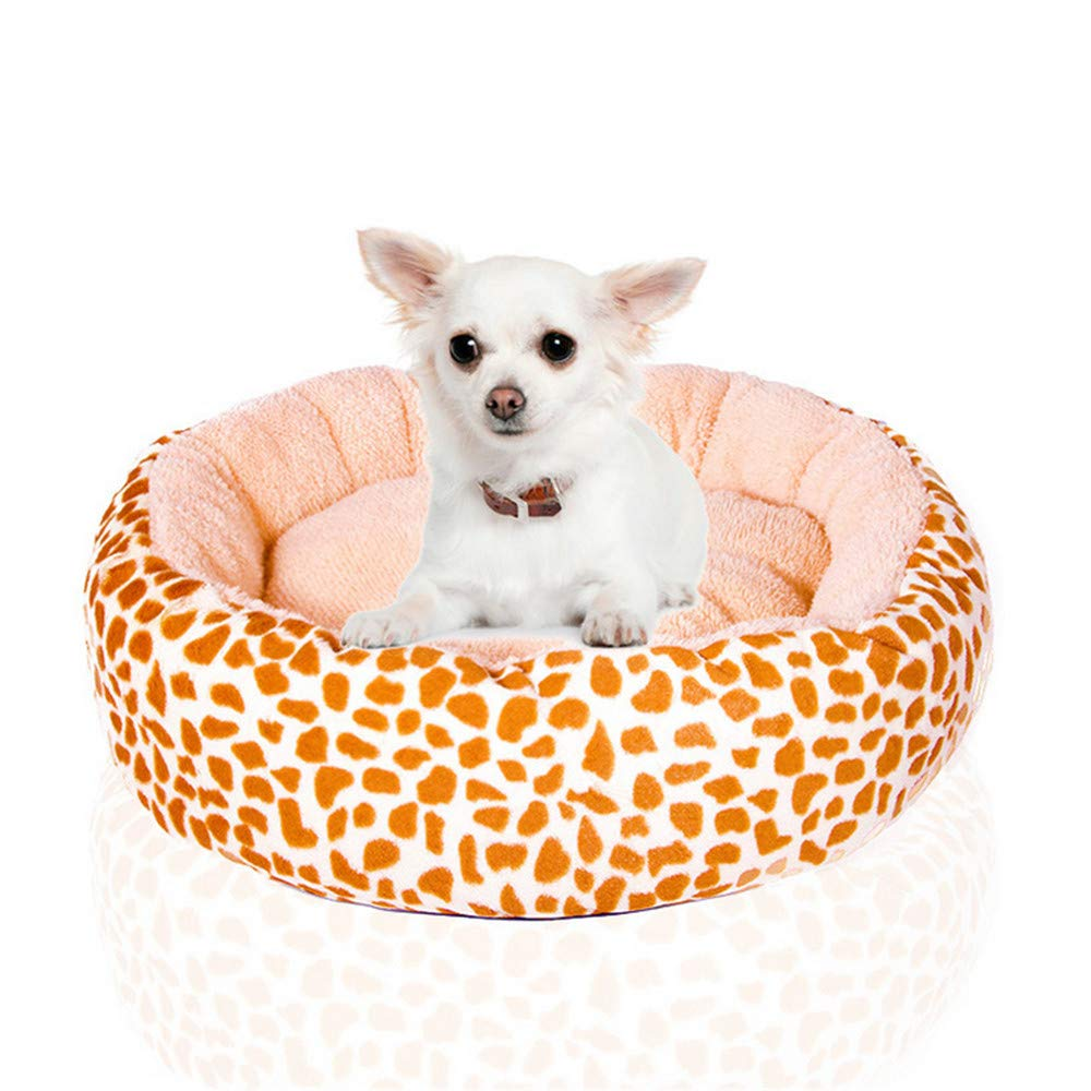 60x40x15 cm Mzdpp Soft Oval Warm Comfortable Cat And Dog Pet Bed Brown Small Large 60  40  15 Cm