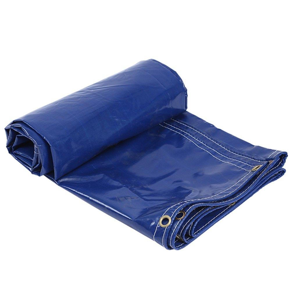 ZEMIN オーニング サンシェード ターポリン 防水 日焼け止め テント シート ルーフ 厚い オックスフォード布 ポリエステル、 青、 400G /M²、 5サイズあり (色 : 青, サイズ さいず : 3X4M) 3X4M 青 B07DBNWC8P