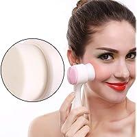 Cepillo facial, moda doble cara suave Cepillo de limpieza profunda facial Cepillo de limpieza de piel Por filfee
